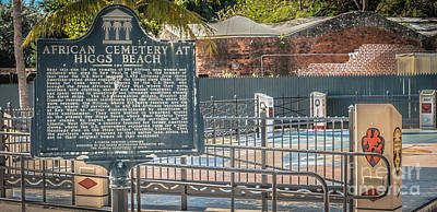 Slaves Photograph - Key West African Cemetery 7 - Key West - Panoramic - Hdr Style by Ian Monk