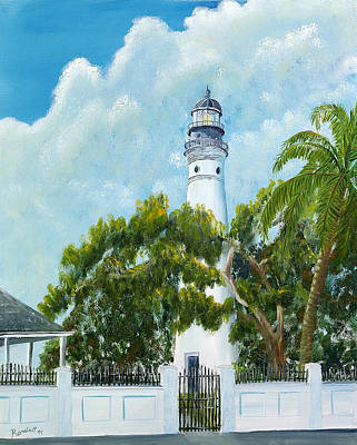 Key West Lighthouse Original by Randall Brewer