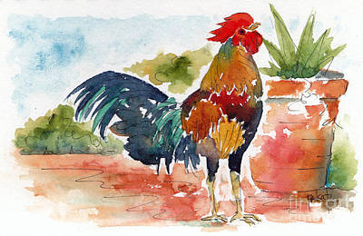 Key West Rooster Print by Pat Katz