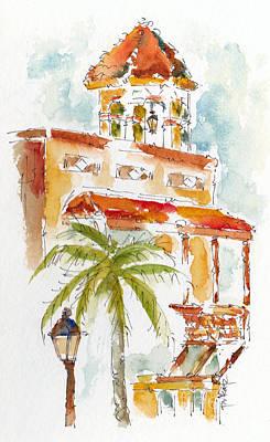 Key West Painting - Key West Tower by Pat Katz