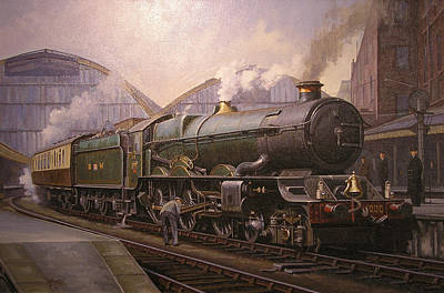Steam Locomotive Painting - Kg5 At Paddington. by Mike  Jeffries