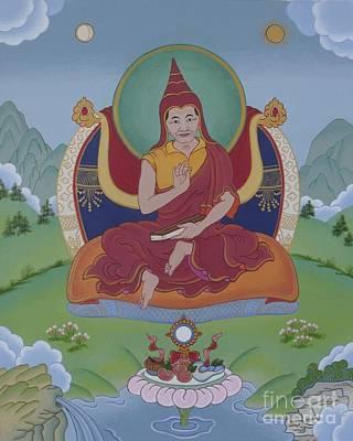 Tibetan Buddhism Painting - Khenchen Palden Sherab Rinpoche by Andrea Nerozzi