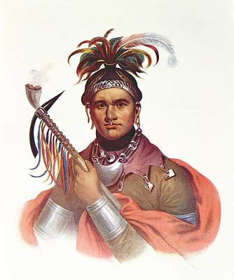 Ki-on-twog-ky Or Complanter, A Seneca Chief, 1796, Illustration From The Indian Tribes Of North Print by F. Bartoli