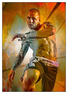 Cage Fighter Digital Art - Kick 1 by John Lynch