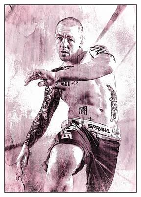 Cage Fighter Digital Art - Kick 2 by John Lynch