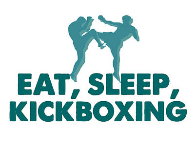 Boxer Mixed Media - Kick Boxer - Kickboxing by MotionAge Designs