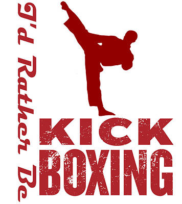 Boxer Mixed Media - Kick Boxer by MotionAge Designs