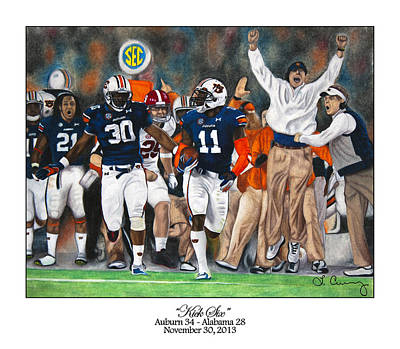 Iron Drawing - Kick Six by Lance Curry