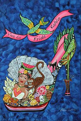 Wildlife Celebration Painting - Kick Up Your Heels Frida by Ilene Satala