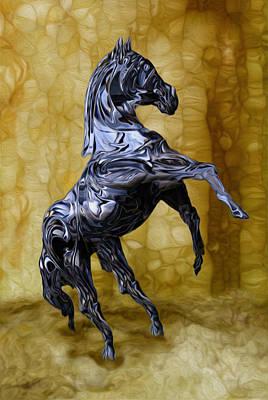 Merging Digital Art - Kickin' by Jack Zulli