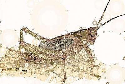 Grasshopper Digital Art - Kicking Up Dust by Steven Boland