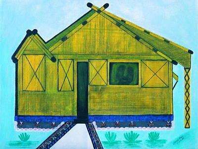 Filipino Drawing - Kiddie House by Lorna Maza