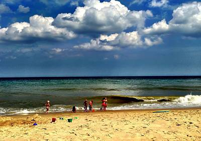 Beach Photograph - Kids At Play by Chris Montcalmo