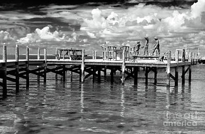 For The Kids Photograph - Kids On The Dock by John Rizzuto