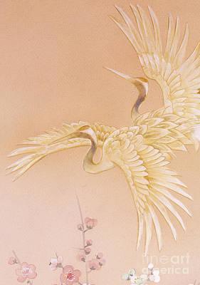 Crane Digital Art - Kihaku Crop I by Haruyo Morita