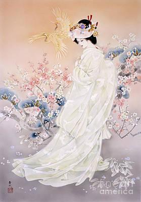 Geisha Digital Art - Kihaku by Haruyo Morita