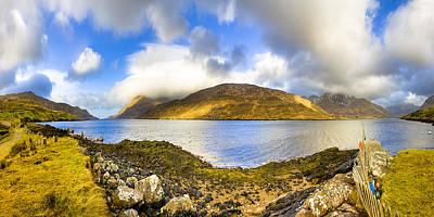 Killary Fjord - Irish Panorama Print by Mark E Tisdale