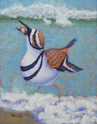 Killdeer Painting - Killdeer Brunch by Toni Wolf