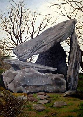 Megalith Painting - Kilmogue Dolmen Leac An Scail by Alan Wells
