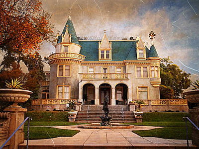 Haunted Mansion Digital Art - Kimberly Crest Manor - Vintage View by Glenn McCarthy