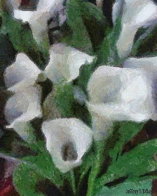 Lily Digital Art - Kim's Flowers by Jeff Kolker