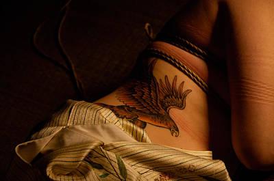 Art Nude Erotic Bondage Photograph - Kinbaku With Tatoo by Azure Dragon