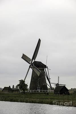 Kinderdijk Windmill Museum 2 Print by Teresa Mucha
