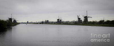 Kinderdijk Windmills 02 Print by Teresa Mucha