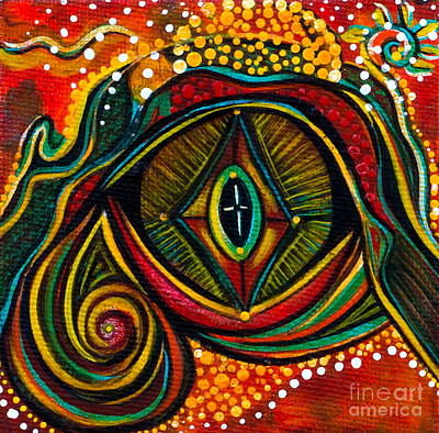 Eye Brows Painting - Kindness Spirit Eye by Deborha Kerr