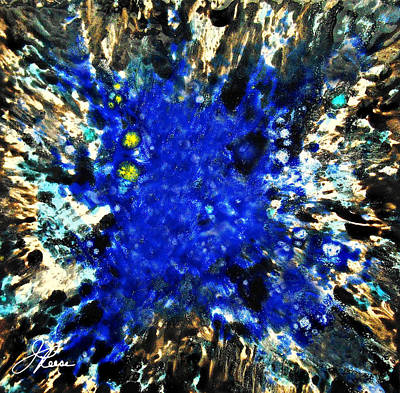 Ceramic Glazes Painting - Kinetic Blue by Joan Reese