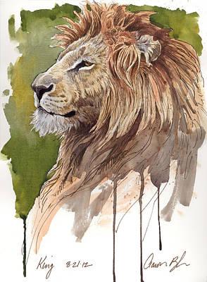 Blaise Digital Art - King by Aaron Blaise