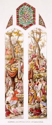 King Alfred At Athelney, Somerset Print by William Bell & Boyd, Alice Scott