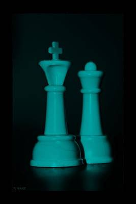 King And Queen In Turquois Print by Rob Hans