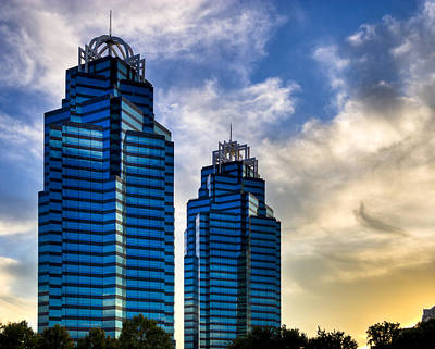 King And Queen Towers - Atlanta Print by Mark E Tisdale