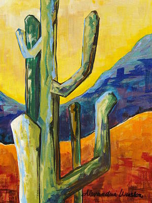 Sonoran Desert Painting - King Canyon I by Alexandria Winslow