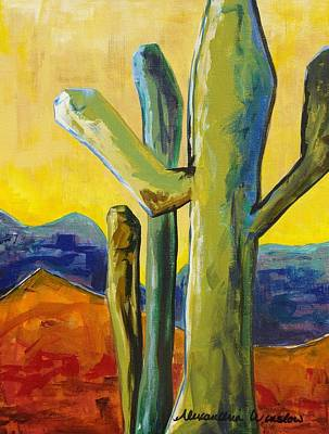 Saguaro Cactus Painting - King Canyon II by Alexandria Winslow