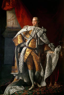 King George IIi 1738-1820 C.1762-64 Oil On Canvas Print by Allan Ramsay