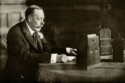 King George V Speaking On The Radio Print by Cci Archives
