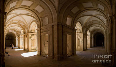 Perspective Photograph - King Joao IIi Cloister  by Jose Elias - Sofia Pereira