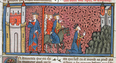 King Louis Ix Of France Print by British Library