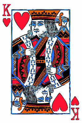 King Of Hearts 20140301 Print by Wingsdomain Art and Photography