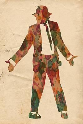 Pop Painting - King Of Pop In Concert No 1 by Florian Rodarte