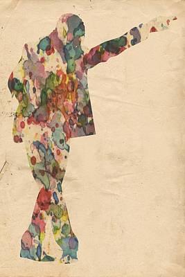 Michael Jackson Digital Art - King Of Pop In Concert No 7 by Florian Rodarte
