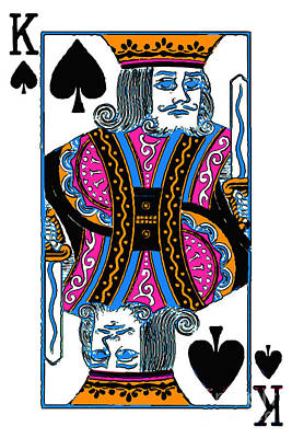 King Of Spades - V3 Print by Wingsdomain Art and Photography