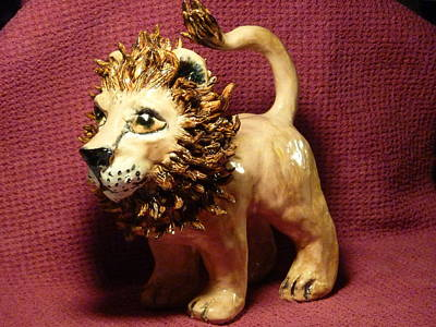Customcrittersbydeb Sculpture - King Of The Beasts by Debbie Limoli