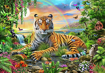 King Of The Jungle Print by Adrian Chesterman