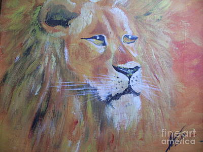 Acrylic Painting - King Of The Jungle by Collin A Clarke