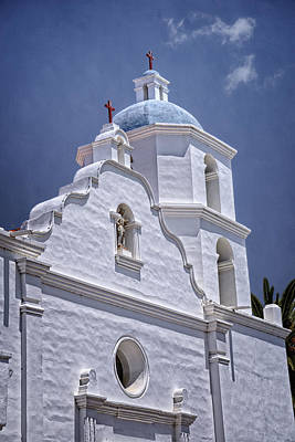 King Of The Missions Print by Joan Carroll