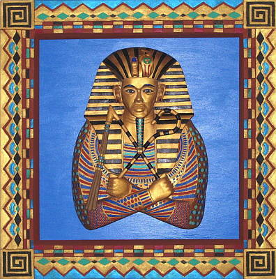 King Tut - Handcarved Original by Michael Pasko