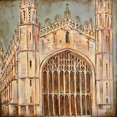Cambridge Painting - Kings College Chapel by Leigh Banks